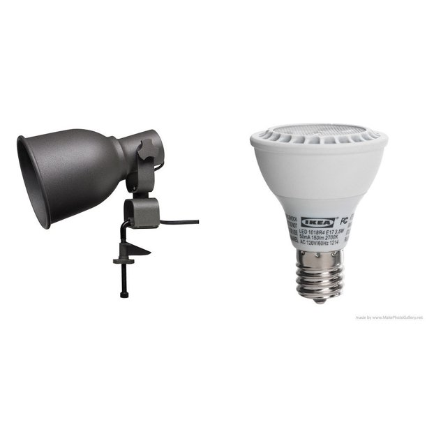 Ikea Wall Clamp Spotlight And Ledare, Lamp With Shelf Ikea