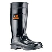 Shoes For Crews Size 8 Steel Toe Boots, Unisex, Black, 2060