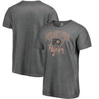 Philadelphia Flyers Fanatics Branded Shadow Washed Retro Arch T-Shirt - Black