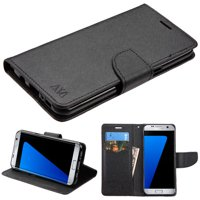For Samsung Galaxy S8 MyJacket Leather Flip Wallet Phone Protector Case Cover (Black/Black)