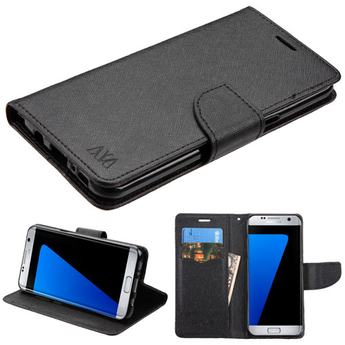For Samsung Galaxy S8 MyJacket Leather Flip Wallet Phone Protector Case Cover