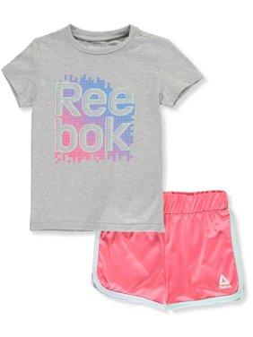 99102af1e201 Product Image Reebok Girls' 2-Piece Shorts Set Outfit