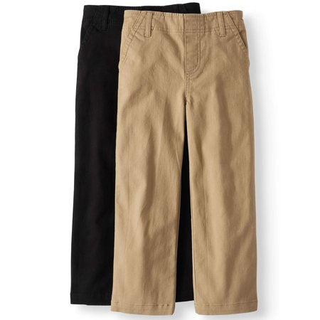 Solid Woven Chino Pants, 2-pack (Little Boys & Big Boys) - Boys 70s Clothes