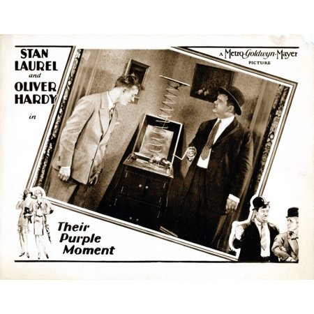 Their Purple Moment Us Lobbycard Stan Laurel Oliver Hardy 1928 Movie Poster Masterprint](Laurel Hardy Halloween)