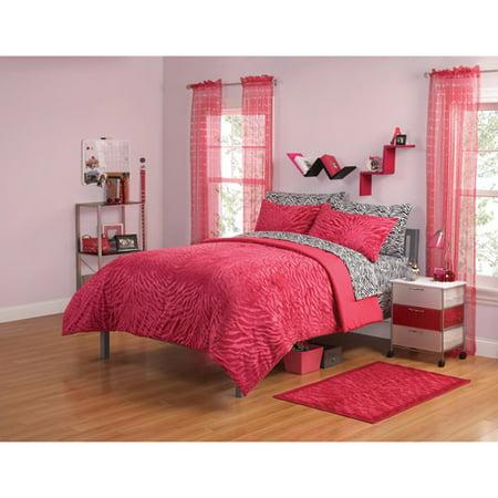 Your zone mink zebra bedding comforter set for Walmart bedroom furniture sets