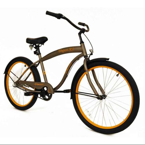 "26"" Verso Vegas 3-Speed Cruiser, Matte Bronze"