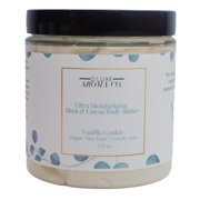 D'Luxe Aroma Co. Ultra Moisturizing Vanilla Cookie Whipped Shea & Cocoa Body Butter, 236 ml