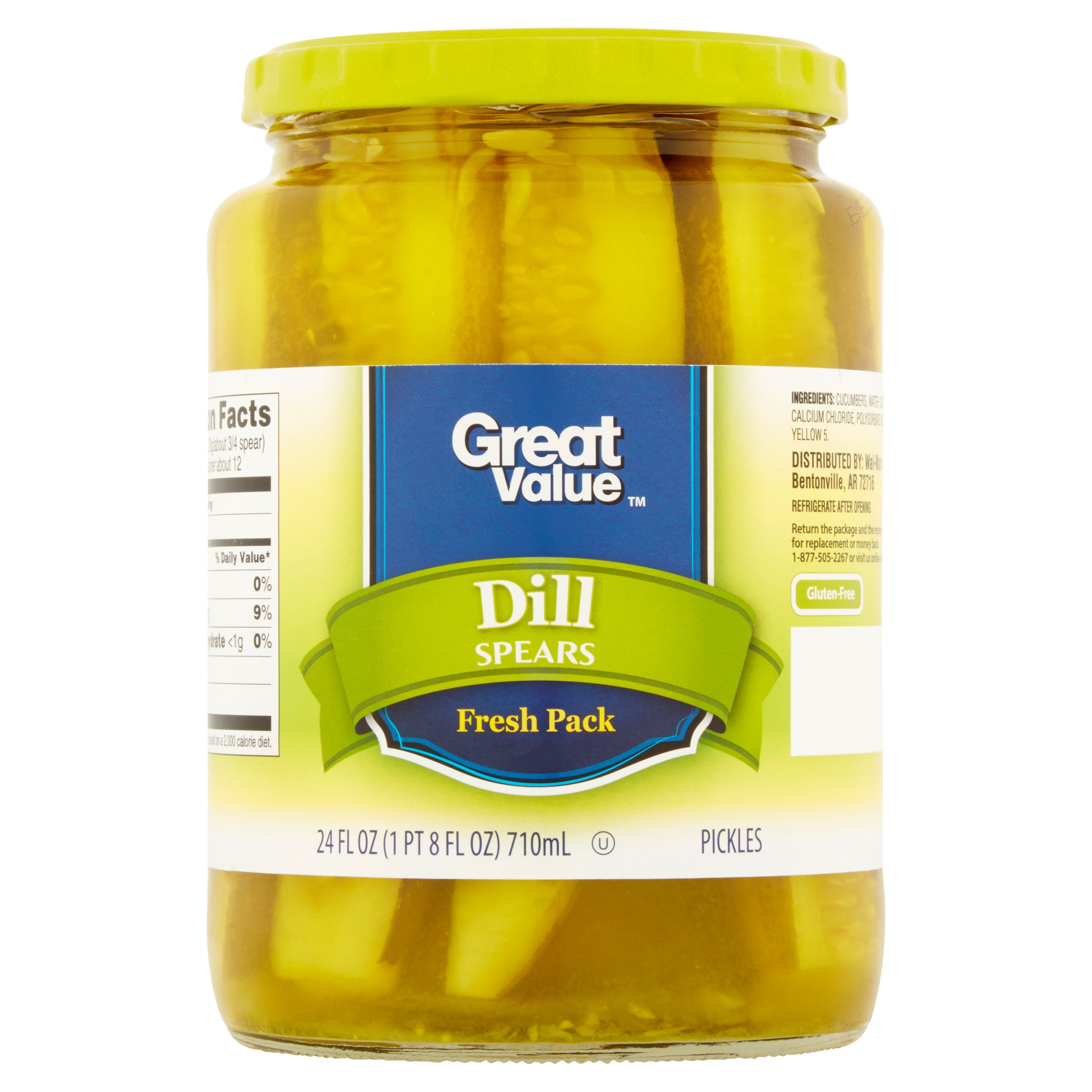 Great Value Dill Spears Pickles, 24 oz by Wal-Mart Stores, Inc.
