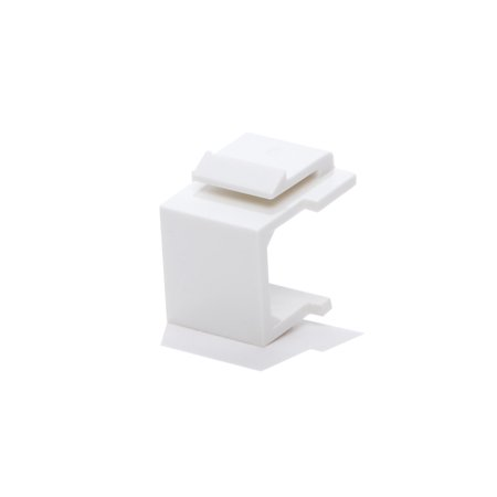 25pcs Snap-in Keystone Blank Insert for Wall Plate White
