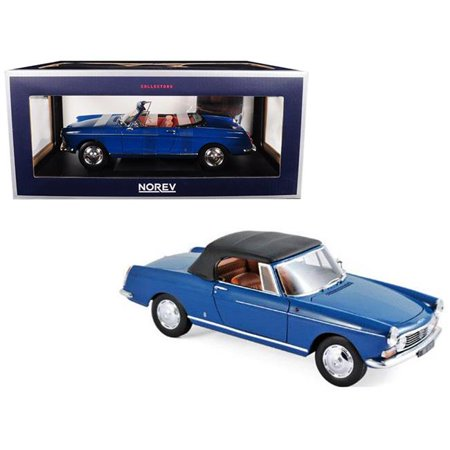 Norev 184832 1 isto 18 1967 Peugeot 404 Cabriolet Diecast Model Car, Mendoza Blue