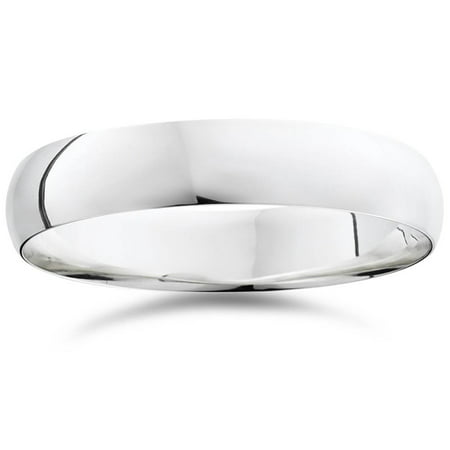 5mm Dome High Polished Wedding Band 10K White Gold - image 2 of 2