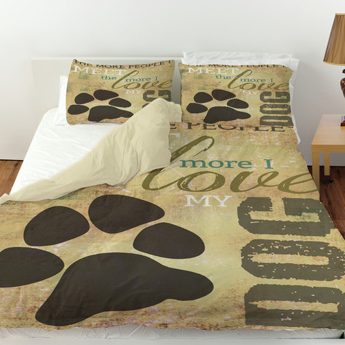 Manual Woodworkers & Weavers People vs Dog Duvet Cover