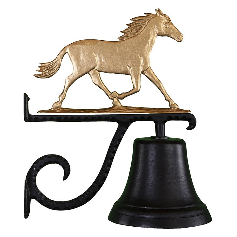 Cast Bell with Gold Horse Ornament