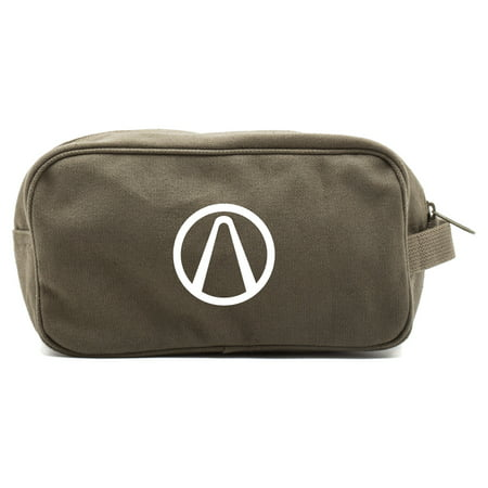 Borderlands Vault Canvas Dual Two Compartment Travel Toiletry Dopp Kit