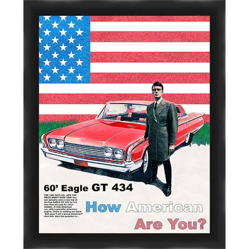 PTM Images Americana Gicl e Framed Vintage Advertisement