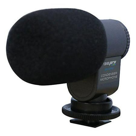 I3ePro BP-CMIC1 X-Series Mini Shotgun Condenser Microphone for Camcorders, Handycams, & Digital SLR Video Cameras (Grey)