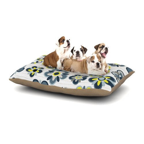 East Urban Home Jolene Heckman 'Folksy' Dog Pillow with Fleece Cozy Top