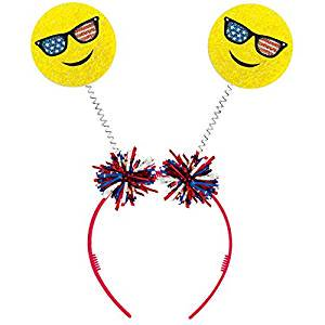 Smiley Face Patriotic Head Bopper - Halloween Smiley Faces For Texting