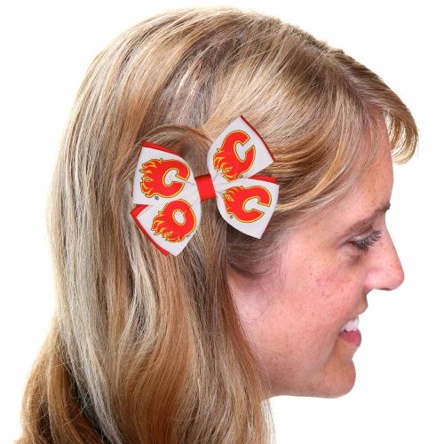 Calgary Flames Two-Tone Pinwheel Hair Clip - No Size
