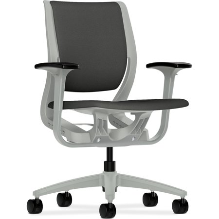 HON, Purpose Mid-Back Chair, Upholstered, 1 Each, Iron ()