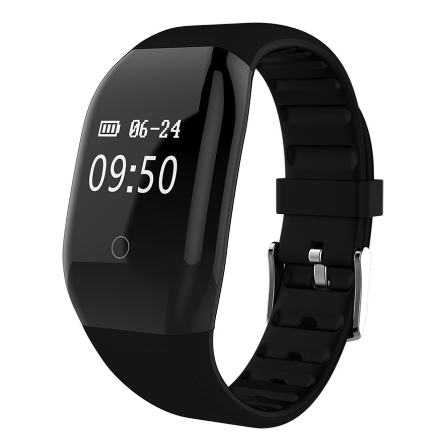 608HR Bluetooth Smart Watch Heart Rate Monitor Pedometer Waterproof Watch
