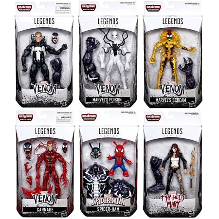 Marvel Legends Monster Venom Series Set of 6 Action
