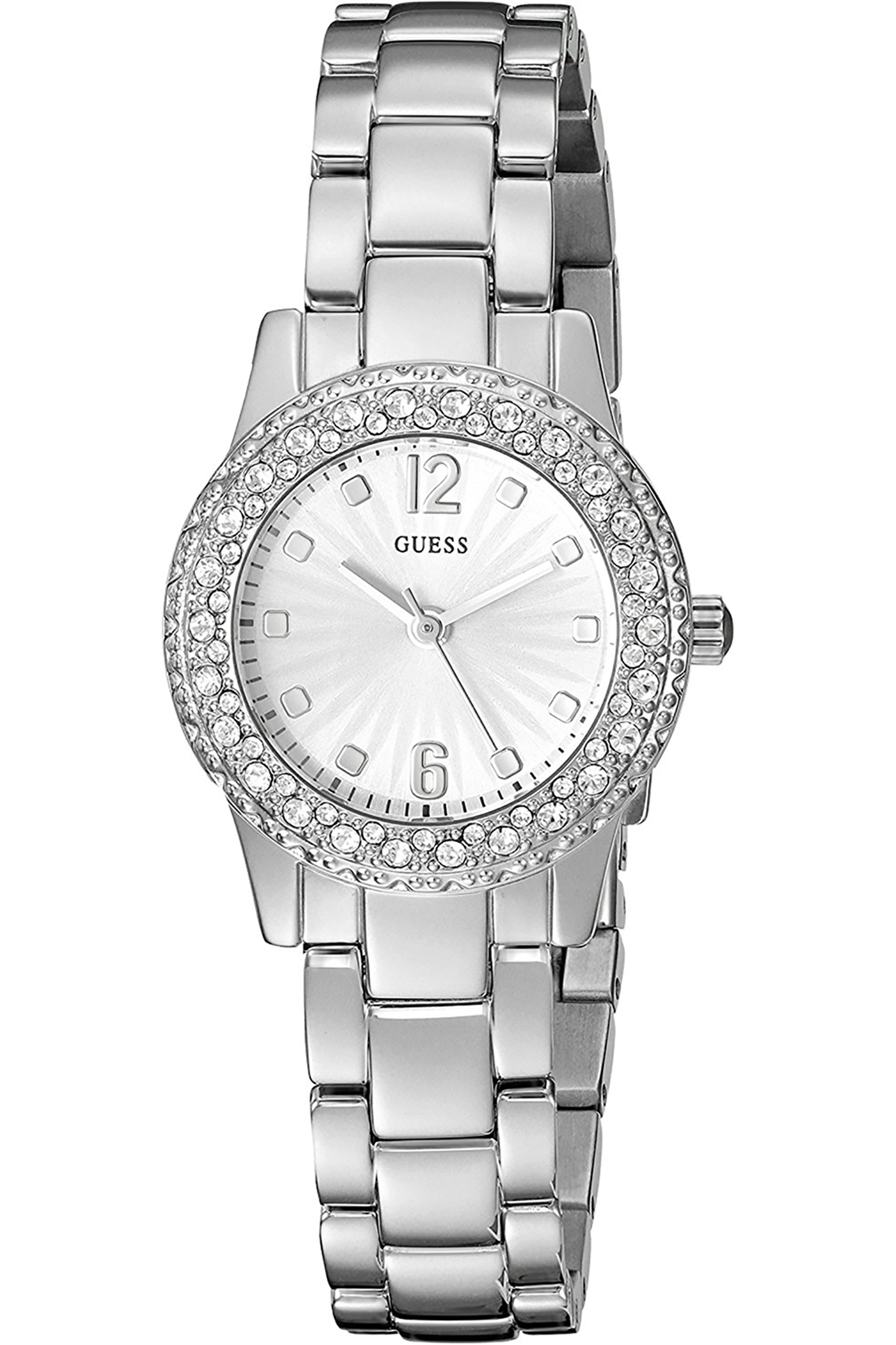 W0889L1,Ladies Dress,Stainless Steel,Silver Tone,Crystal Accented Bezel,30m WR