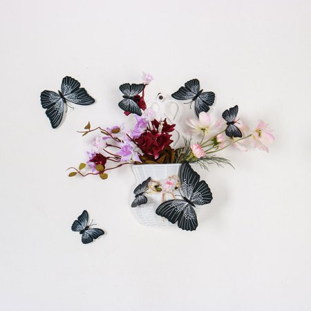 48pcs 3D Butterfly Wall Stickers Butterfly Removable Sticker Creative