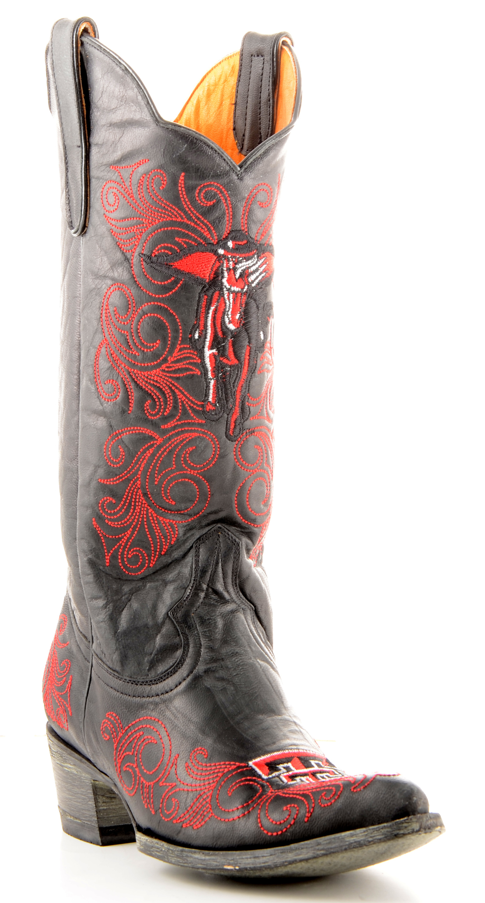 "Gameday Womens 13"" Black Leather Texas Tech Cowboy Boots (Size 10.5) TT-L010-1 by GameDay Boots"