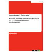 Regieren in ausgewhlten Politikbereichen der EU: Whrungsunion und Stabilittspolitik - eBook