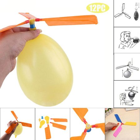 12PC Balloon Helicopter Flying Toy Child Birthday Bag Stocking Filler](Balloon Bags)