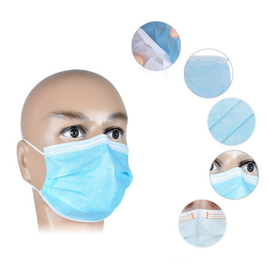 50Pcs Disposable Medical Dustproof Surgical Face Mouth Masks Ear Loop by