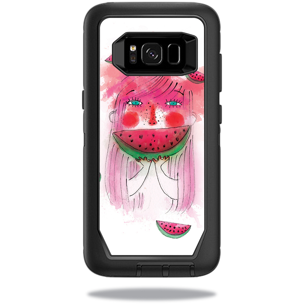 MightySkins Protective Vinyl Skin Decal for OtterBox Defender Samsung Galaxy S8 Case sticker wrap cover sticker skins July Watermelon