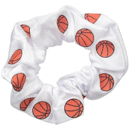 Emc Sports Basketball Dazzle Hair Scrunch  White  One Size Fits All