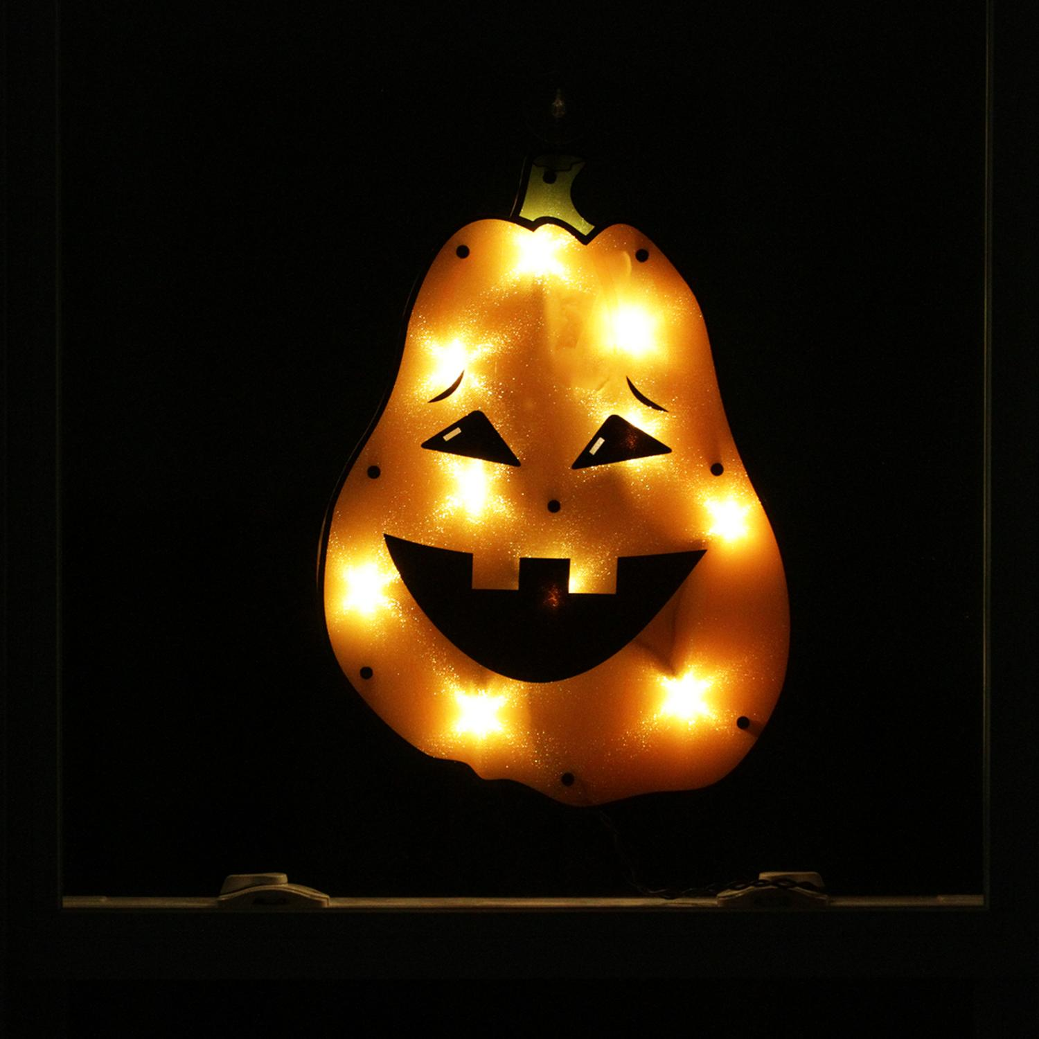 17 lighted tall jack o lantern pumpkin halloween window silhouette decoration