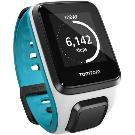 TomTom Spark Activity Tracker, Small, White/Scuba Blue