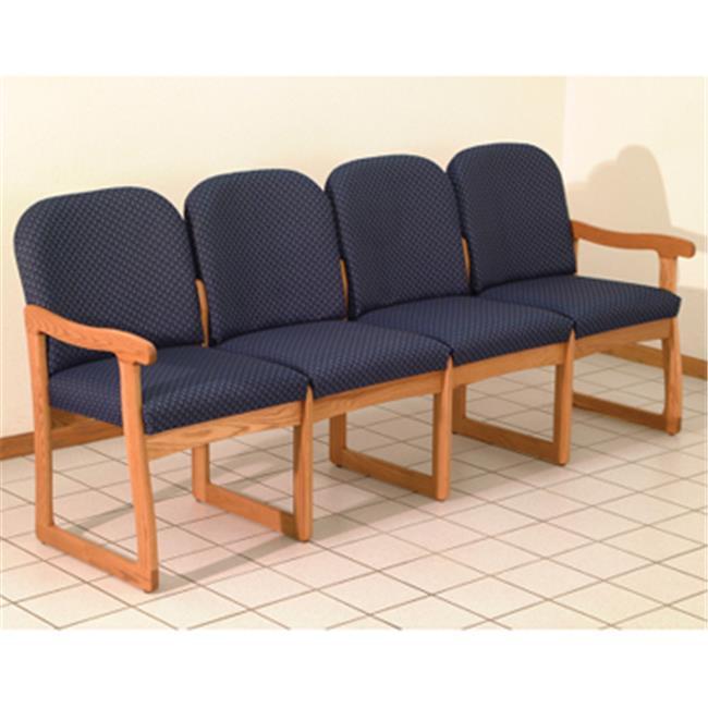 Wooden Mallet Prairie Four Seat Sofa in Medium Oak - Arch