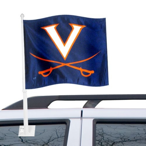 NCAA Virginia Cavaliers Navy Car Flag