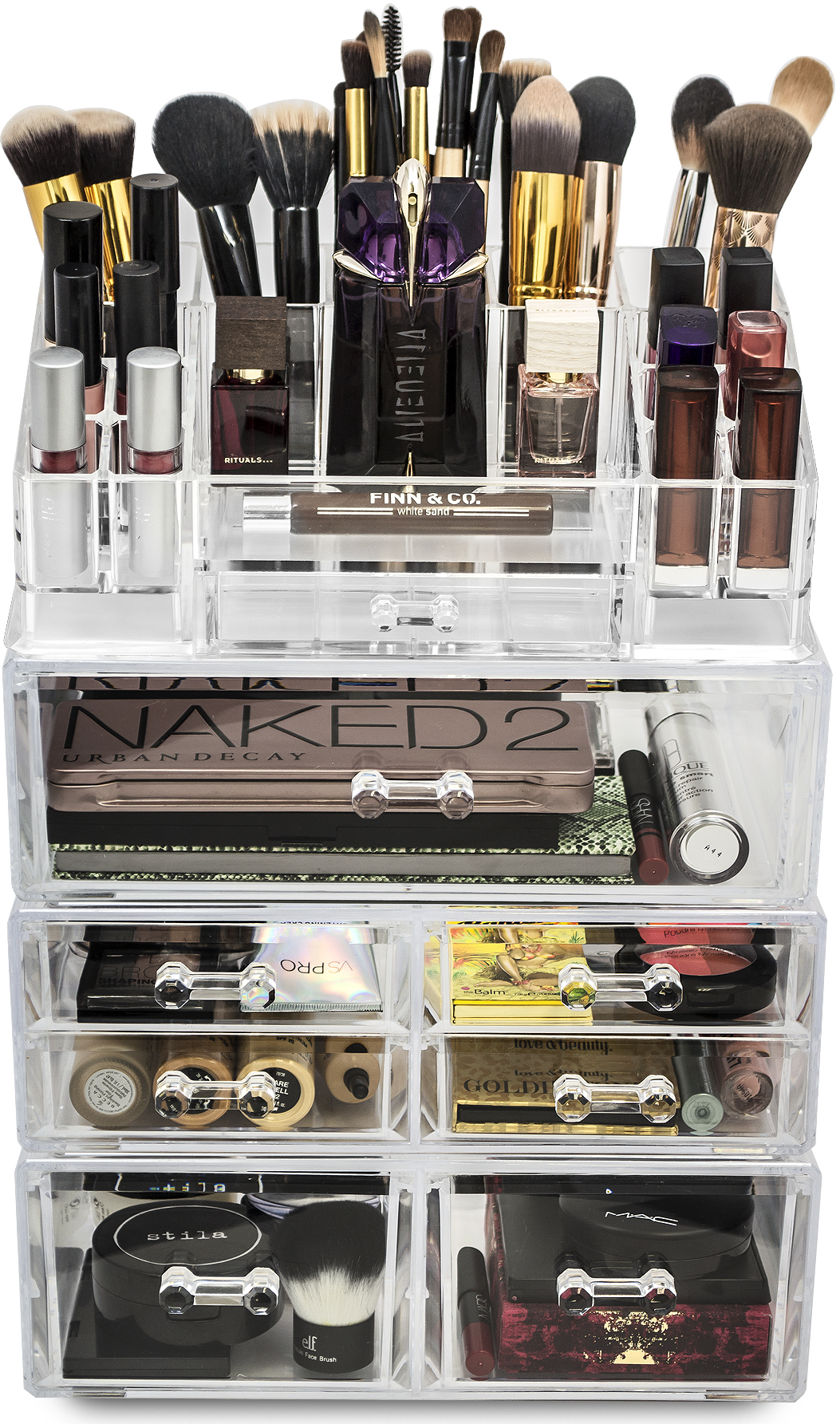 Sorbus Acrylic Cosmetics Makeup And Jewelry Storage Case Display Sets    Interlocking Drawers To Create Your
