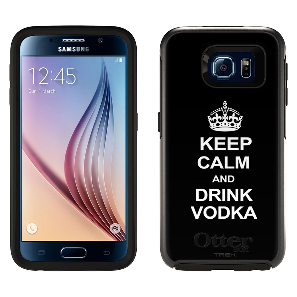 OtterBox Symmetry Samsung Galaxy S6 Case - KEEP CALM and Drink Vodka on Black OtterBox Case