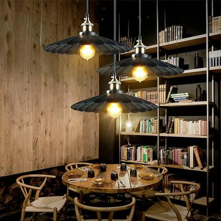 Retro Industrial Vintage Iron Hanging Ceiling Lamp Chandelier Pendant Light Fixture Barn