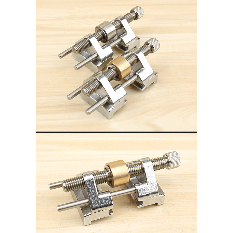 Stainless Steel Side Clamping Fixed Angle Honing Guide for Wood Chisel Planer Blade Flat Chisel Edge Sharpening Specification:Brass wheel Honing Guide - image 3 de 6