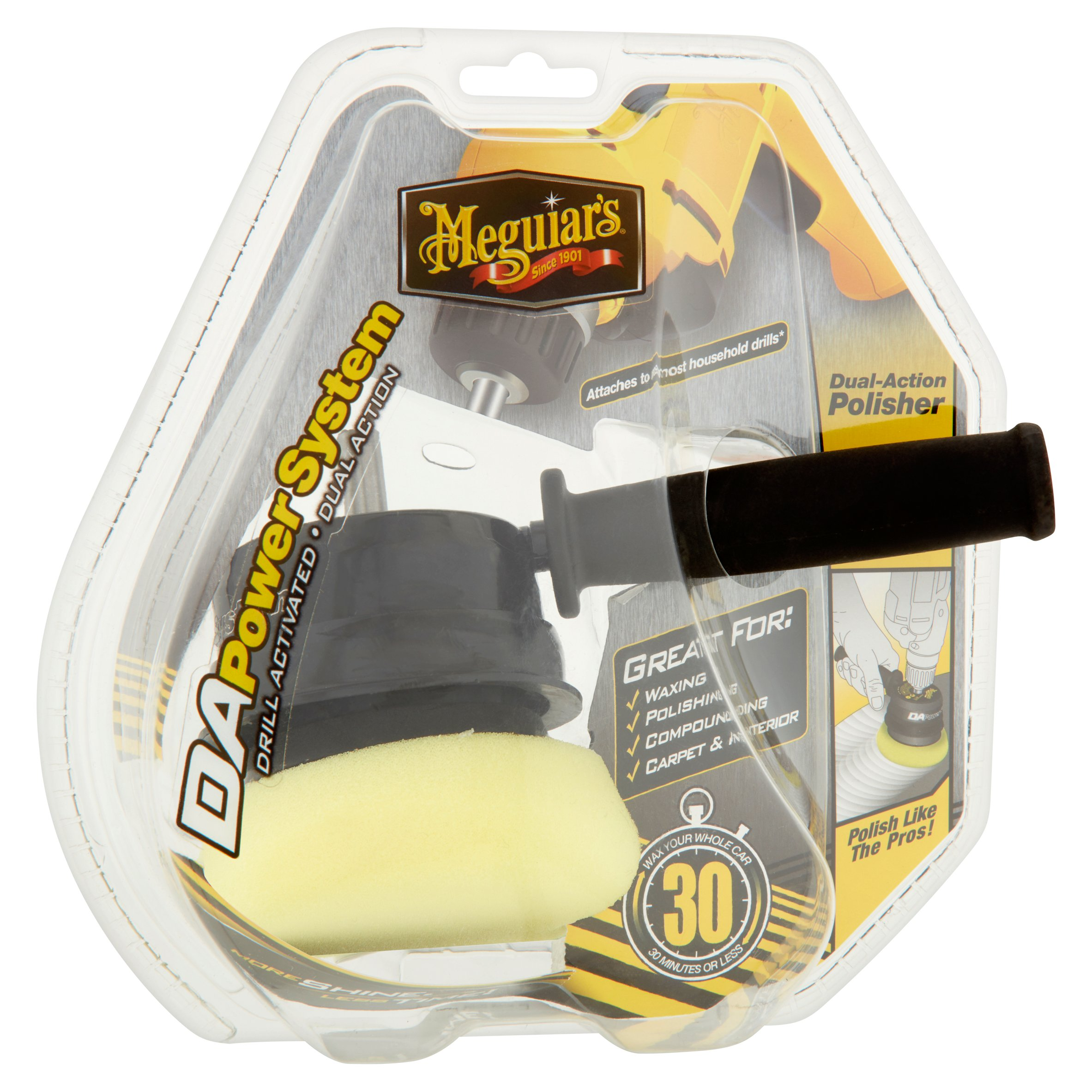 Meguiar's DAPower System Drill Activated Dual Action Polisher