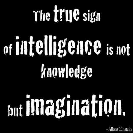 Buy Art For Less  The True Sign Of Intelligence Is Not Knowledge But Imagination   By Kelissa Semple Textual Art On Wrapped Canvas