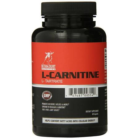 Betancourt Nutrition L-Carnitine L-Tartrate - 60 Capsules - 1000 mg par portion