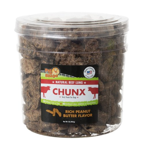 Pet n Shape Natural Beef Lung Chunx Dog Treats - Rich Peanut Butter Flavor