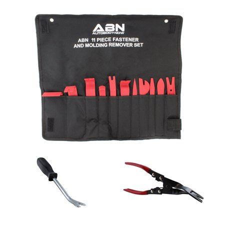 ABN Auto Trim Removal Kit FREE Door Panel Fastener Clip Tool & Upholstery (Upholstery Installation Kit)