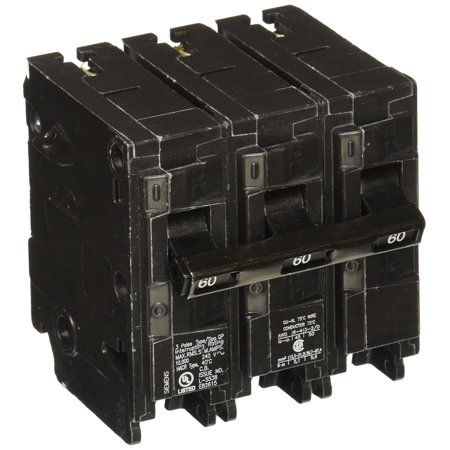 Siemens Circuit Breaker (Q360 60-Amp Three Pole Type QP Circuit Breaker, Three pole, 60 Amp, 240V type QP Circuit Breaker By)