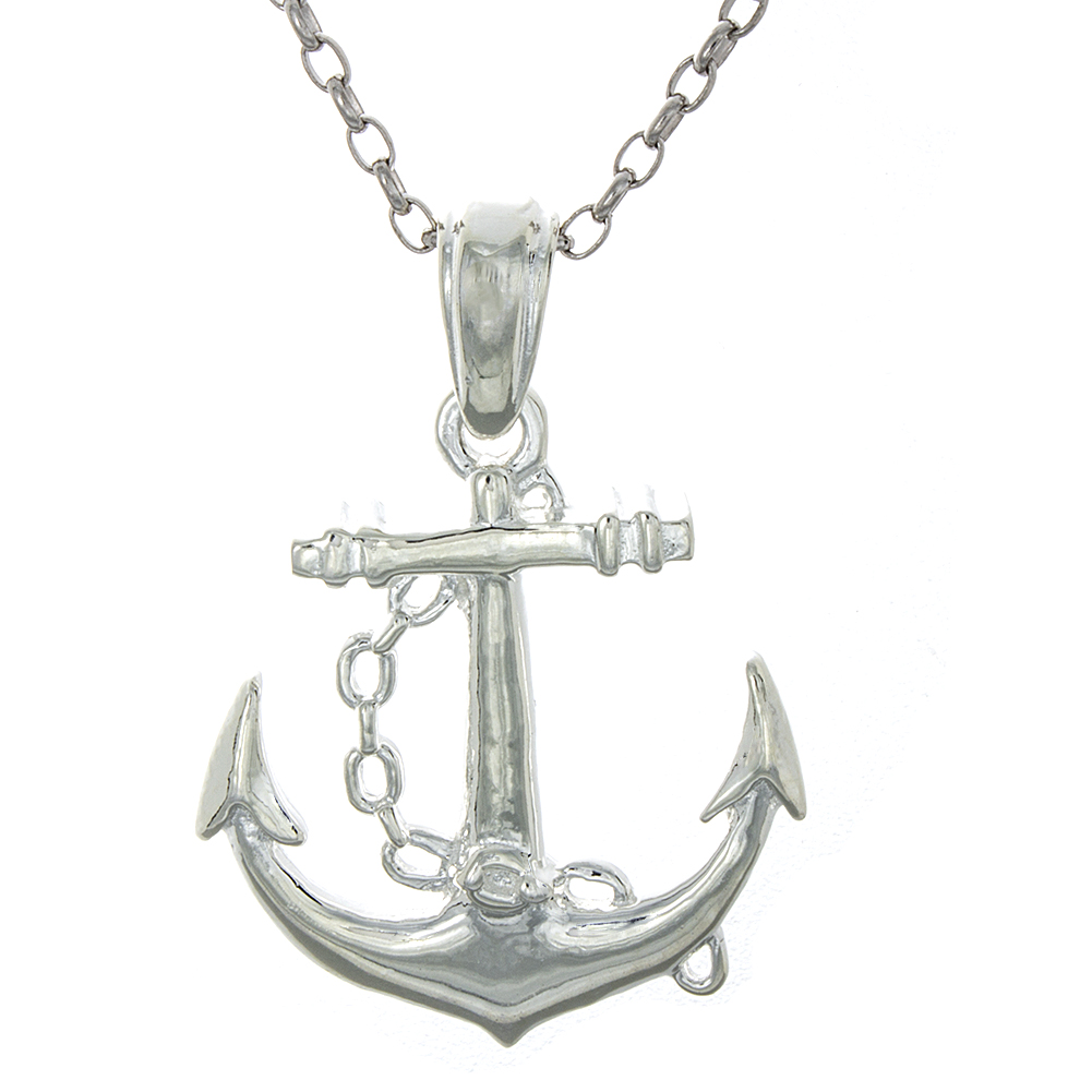 Million Charms 925 Sterling Silver Nautical Charm Pendant...
