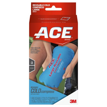 Ace Large Reusable Cold Compress  1 Cold Pack  Blue